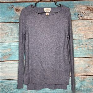 Nanette Lepore Gray Cashmere Tunic Sweater Large